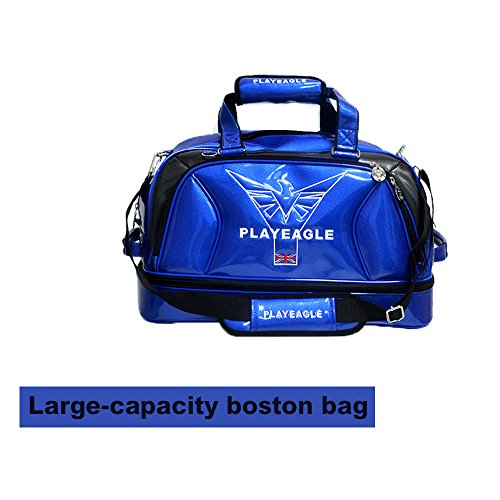 PLAYEAGLE New Arrival Double-layer Men's Golf Duffel Bag PU Smooth Golf Bag for Travel Women Waterproof Boston Bag with Shoe Pocket by PLAYEAGLE (Image #1)