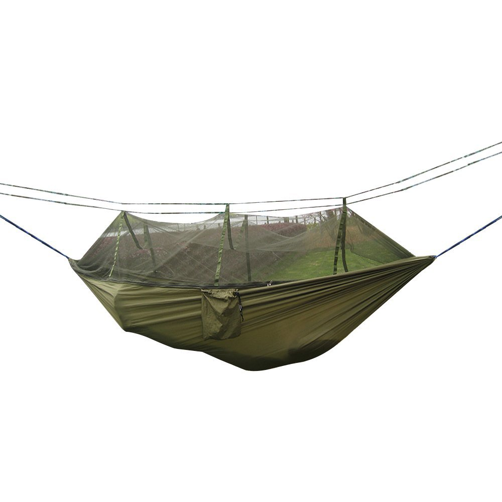 Sports & Entertainment Sleeping Bags Outdoor Camping Hammock With Mosquito Net Tree Ropes Carabiners For Travel Hiking Beach Backyard Backpacking Sleeping Bag Bed