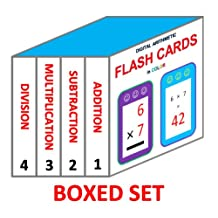 Digital Arithmetic Flash Cards (Boxed Set: 4 Books in 1): Addition, Subtraction, Multiplication, and Division