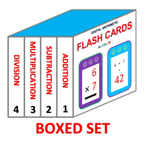 Digital Arithmetic Flash Cards (Boxed Set: 4 Books in 1): Addition, Subtraction, Multiplication, and (Set Subtraction)