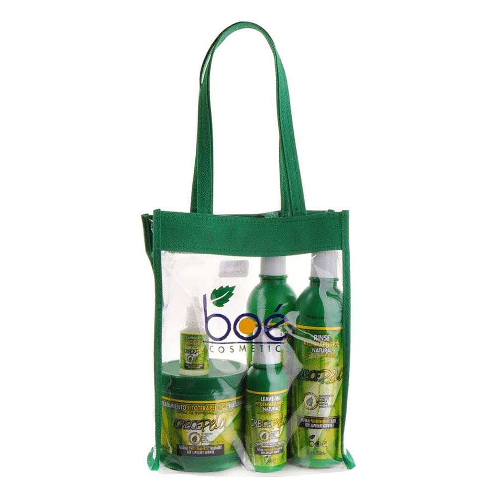BOE Crece Pelo 5 Pack Combo Set w/ Tote Bag by Boe: Amazon ...