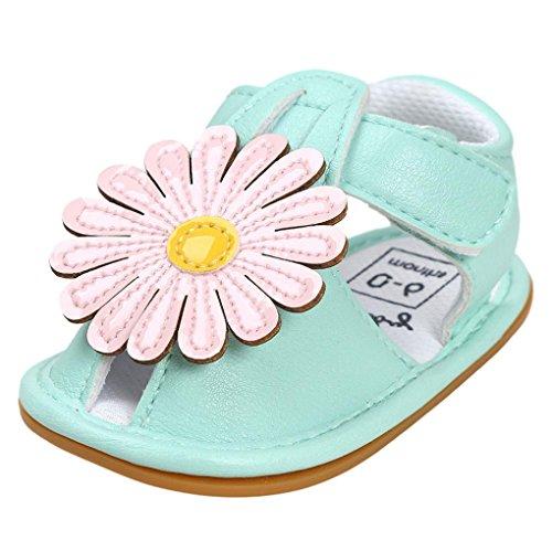 zapatos bebe niña verano Switchali Recién nacido nina primeros pasos zapatos bebe con suela floral princesa Zapatos moda Al aire libre sandalias de niña fiesta baratos Verde