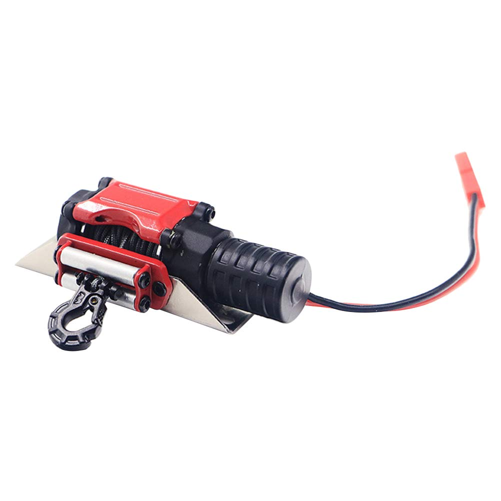 Toyvian RC Winch 1/10 Metal Steel Wired Simulated Winch with Switch for Car Rock Crawler
