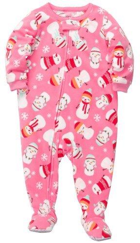 Las niñas de 1 pieza Pijamas Micro-fleece de Carter (3T, muñecos de