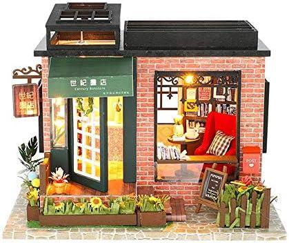 ドールハウス センチュリー書店でカバー音楽ムーブメントギフトインテリアコレクションおもちゃDIYドールハウス 小屋モデル (Color : Multi-colored, Size : One size)