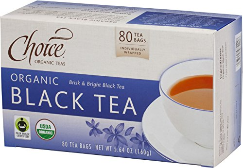- Choice Organic Teas Black Tea Value Pack, 80 Count, Pack of 6