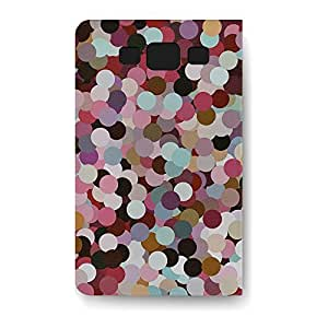 Leather Folio Phone Case For Samsung Galaxy S3 Leather Folio - Girly Confetti Protective PU Leather by lolosakes