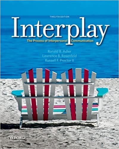 Amazon interplay the process of interpersonal communication interplay the process of interpersonal communication 12th edition fandeluxe Choice Image