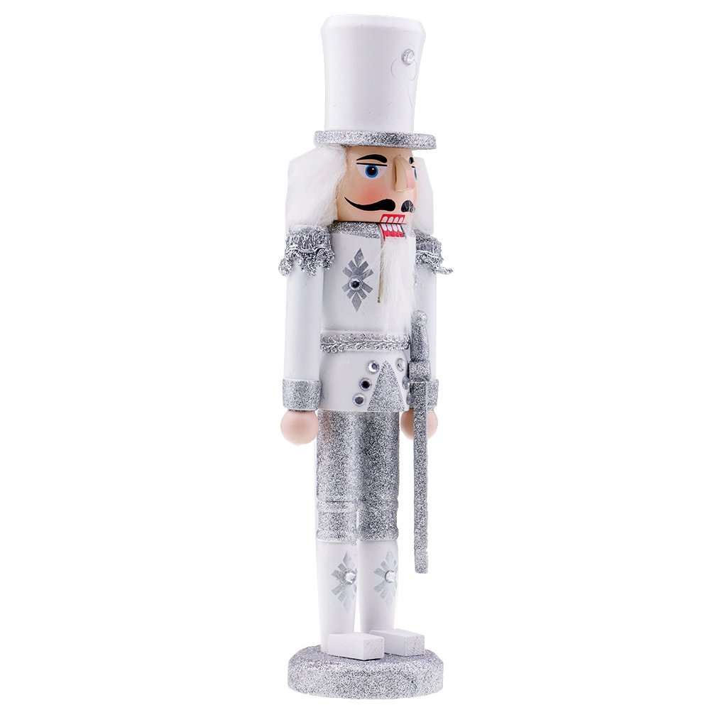 MagiDeal Wooden Hand Painted Soldier Nutcracker Walnut Statue Christmas Ornament Collectibles for Kids Toy - #3