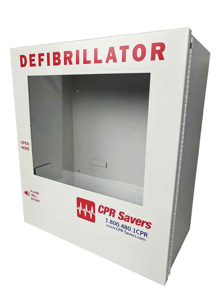 CPR Savers Surface Mount AED Defibrillator Cabinet (Without Alarm)