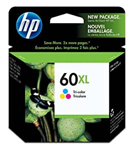 HP 60XL Tri-color High Yield Original Ink Cartridge (CC644WN)