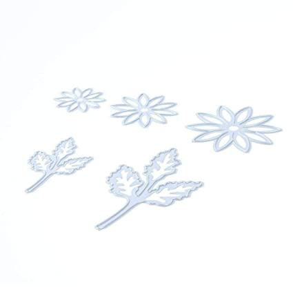 amazon com whitelotous 5pcs flower leaves cutting dies handmade diy