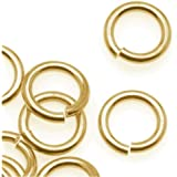 400 Split Rings Gold Plated 8MM High Quality J064
