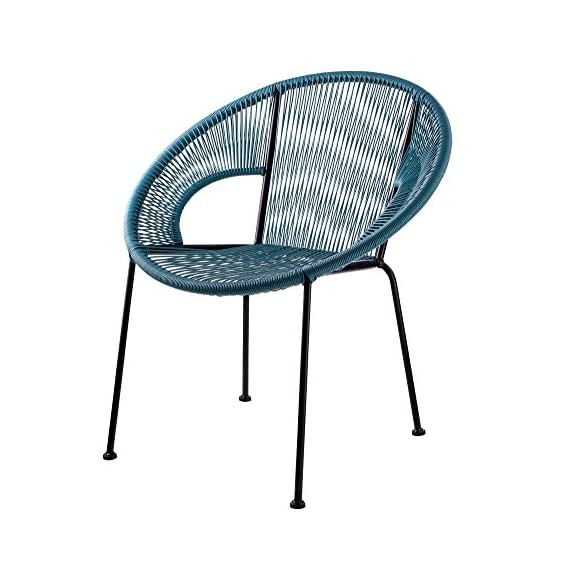 Design Guild Outdoor Chair, Blue - Designed to last, this chair is made of durable, high quality metal and plastic to ensure years of reliable use. The rounded frame provides a stylish look and allows for the ultimate comfort and stability. This versatile chair is perfect for indoor or outdoor use, and can be used for cafes, restaurants, hotels, or home patios. - patio-furniture, patio-chairs, patio - 5157jhjN FL. SS570  -