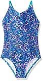 Kanu Surf Girls' Toddler Daisy Beach Sport 1-Piece Swimsuit, Sundance Purple Paisley, 2T