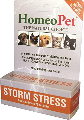 HomeoPet Pro Storm Stress for Dogs 20-80 lbs, 5 ml by HomeoPet