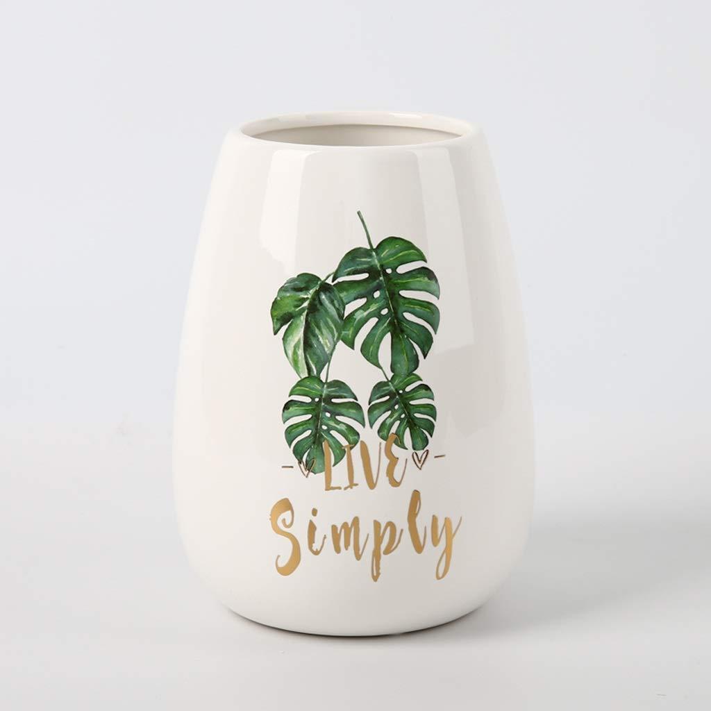 セラミックドライフラワー花瓶クリエイティブデスクトップフラワーアレンジメント装飾家の装飾 QYSZYG (サイズ さいず : 7*14*24cm) B07QYQXP5H  7*14*24cm