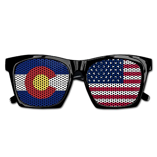 Elephant AN Themed Novelty Flag Of Usa Colorado Decoration Visual Mesh Sunglasses Fun Props Party Favors Gift - For Colorado Sale Sunglasses