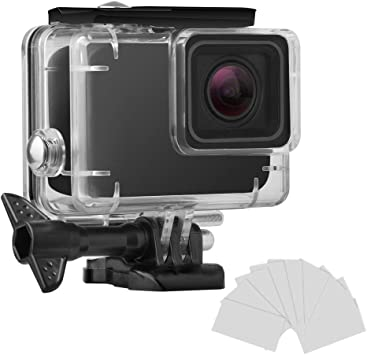 Amazon Com Finest Waterproof Housing Shell For Gopro Hero7 White Silver Diving Protective Housing Case 45m With Anti Fog And Bracket Accessories For Go Pro Hero 7 White Silver Action Camera Camera