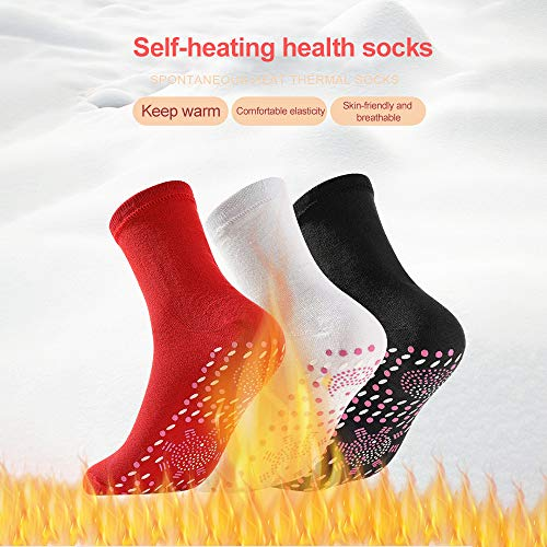 EKUPUZ New Unisex Self Heating Socks Winter Warm Thick Casual Socks Tourmaline Foot Heated Sports Socks Tourmaline Foot Heated Sports Socks for Men Women