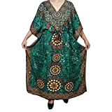 Mogul Womens Maxi Caftan Cruise Cover Up Dress Holiday Kaftan One Size