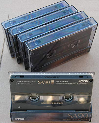 - TDK SA90 High Bias CD Super Avilyn Type II Audio Cassette Tape - Pack of 5
