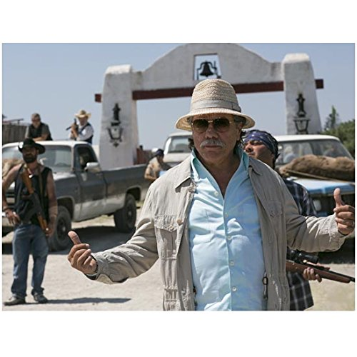 Edward James Olmos 8 x 10 Photo Blade Runner Battlestar Galactica Miami Vice Hat & Sunglasses Gesturing to Armed Men in Background - Vice Sunglasses Miami
