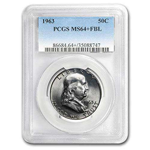 1963 Franklin Half Dollar MS-64+ PCGS (FBL) Half Dollar MS-64 PCGS