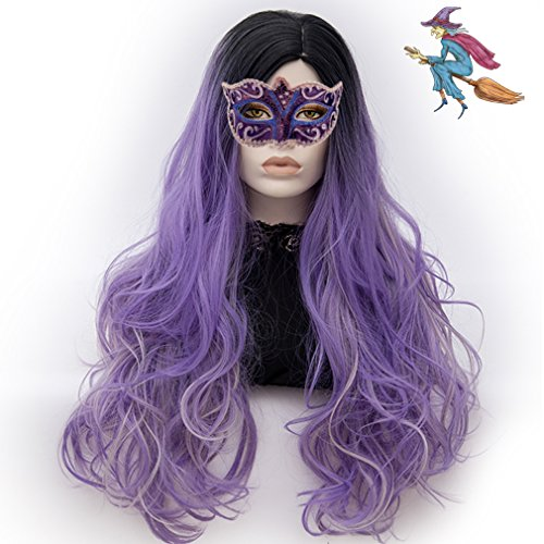 Cosplay Costumes Philippines (Long Cosplay Wigs Curly Heat Resistant Spiral Costume Wigs Anime Fashion Wavy Daily Party Black to Blue 30