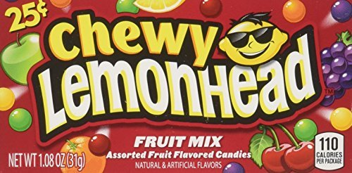 Chewy Lemonhead Fruit Mix Candy Boxes, Assorted Flavors, 0.8 Ounce Each (Pack of 24) by Ferrara Pan