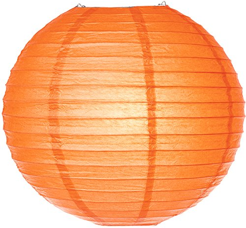 Luna-Bazaar-Paper-Lantern-6-Inch-Parallel-Style-Ribbed-Orange-Rice-Paper-ChineseJapanese-Hanging-Decoration-For-Home-Decor-Parties-and-Weddings