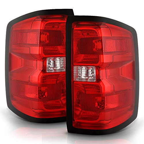 ACANII - For 2014-2018 Chevy Silverado 1500 Pickup Truck Rear Tail Lights Brake Lamps Assembly Driver & Passenger Side