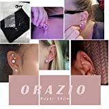 ORAZIO 6 Pairs 18G Stainless Steel Ear Stud