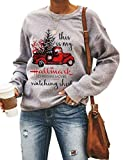 YourTops Women Long Sleeve This is My Christmas Movie Watching Sweater Hallmark Shirt