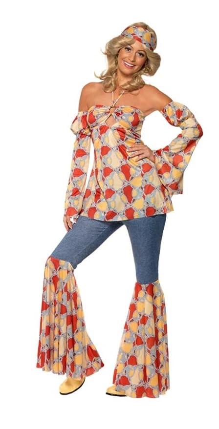 0d14a40d243c2c Smiffy's - Costume da discoteca anni '70, incl. top, maniche, pantaloni