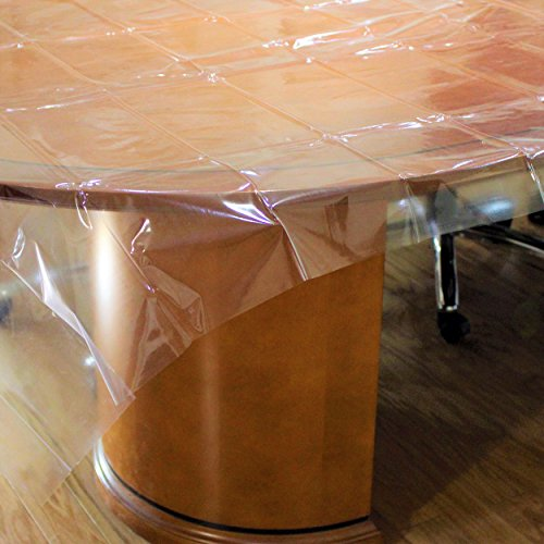Exquisite Light Duty Waterproof Plastic Table Cover, Crystal
