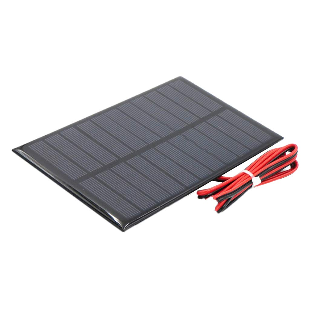 D DOLITY Power Solar Panel Module with Cable for Solar Toys Lights Cellphone Charger DIY Making - 5V 250mA