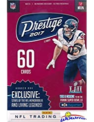 2017 Panini Prestige NFL Football Factory Sealed Hanger Box with 60 Cards including 5 ROOKIES,5 INSERTS & 5 PARALLELS! Look for RC & Autographs of Leonard Fournette, Mitch Trubisky & More! WOWZZER!