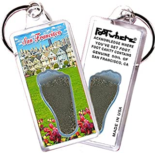"""product image for San Francisco """"FootWhere"""" Keychain. Made in USA (SF102 - Alamo Square)"""