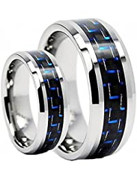 Amazoncom Tungsten Ring Set Clothing Shoes Jewelry