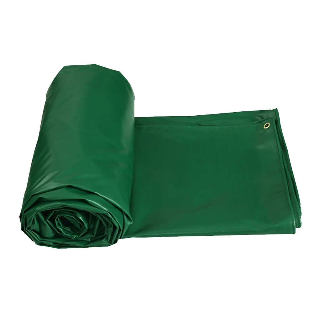 JNYZQ Outdoor Sonnencreme Zelt Splice Markise Sonnenschutz Rainproof Trap Bodenplane Abdeckungen Schuppen Tuch Verdicken Wasserdichte Heavy Duty Plane-Grün, 450G   M² (größe   5  6m)
