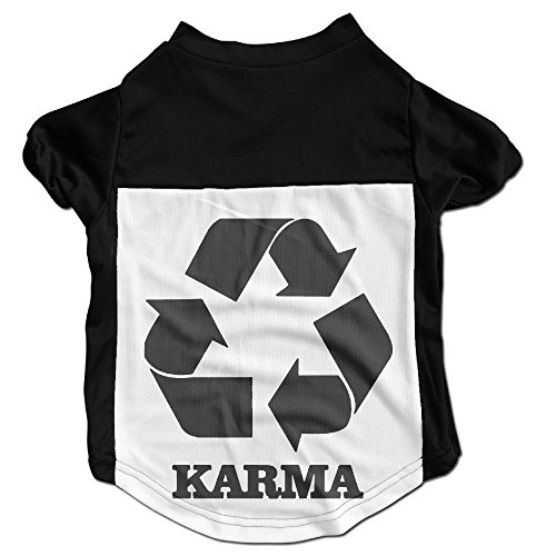 Richard Lyons Fashion Sleeveless Pet Supplies Dog Cat Clothes Karma Recycle Pet Apparel Clothing M (Black Karma Apparel)