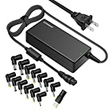Powseed Universal 18.5V 19V 19.5V 20V 90W Laptop AC Power Adapter Charger With Multi Tips for Notebook Acer Asus Toshiba Dell Lenovo IBM HP Compaq Samsung Sony Gateway Fujitsu Compatible Models
