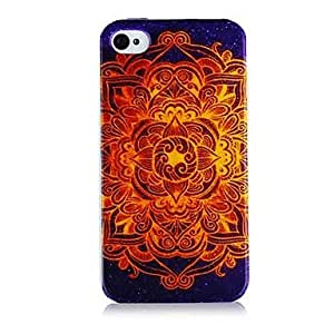 GJYNational style Colorful Line Pattern Silicone Soft Case for iPhone5/5S
