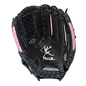 Mizuno Youth GPL1211 Prospect Fast Pitch Softball Mitt (Black/Pink, 12.00-Inch, Left Handed Throw)