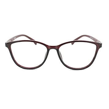 d8301b7a4e84 EyeBuyExpress Prescription Mens Womens Burgundy Burgundy Cat Eye Style  Retro Reading Glasses Lightweight Anti Glare +