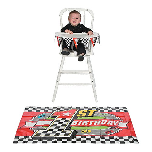 Crown Race Cutter - Plastic Birthday Party Racing RACE CAR 1ST BIRTHDAY High Chair Decoration Set