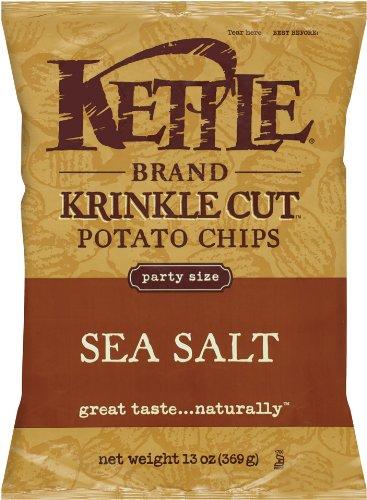 Kettle Chips, Sea Salt Krinke Cut, 13 oz