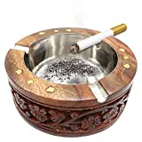 Best IndiaBigShop Carving Woods - Special Gifts at Good Friday. Wooden Ashtray ,Round Review