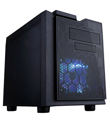 APEVIA X-QPACK3-NW-BK Micro ATX Cube Gaming/HTPC Case, Supports Video Card up to 320mm/ATX PS, USB3.0/USB2.0/HD Audio Ports, 1 x 140mm blue LED fan, Flip Open Design, Dust Filter-Black